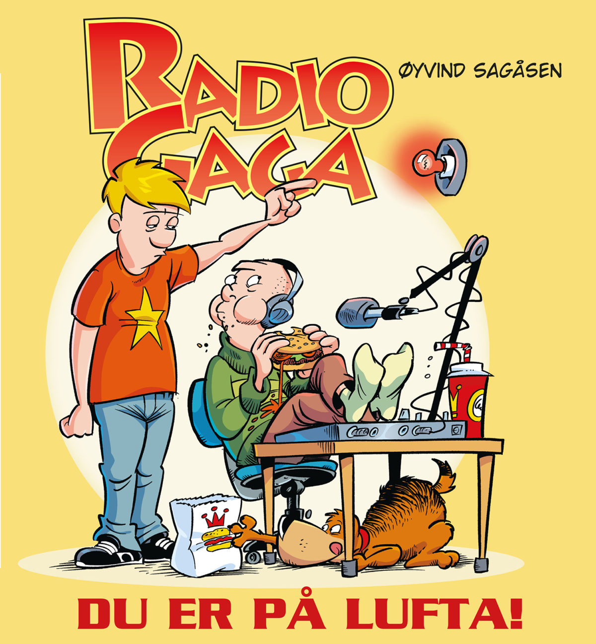 """Radio Gaga bok """"Du er på lufta!"""""""